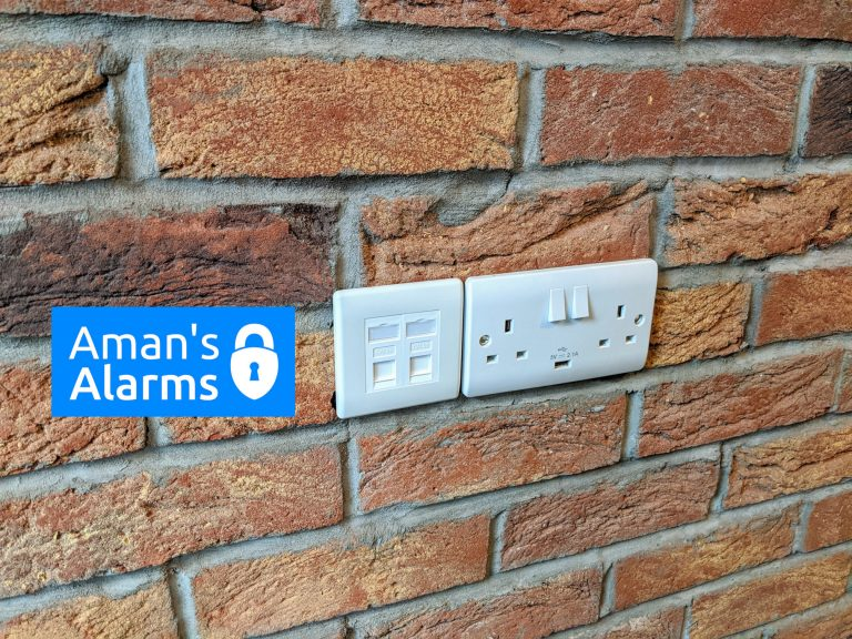 Internet sockets on wall
